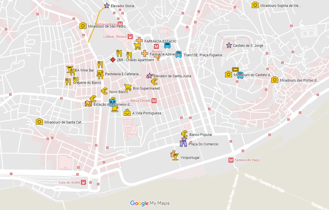 Google My Maps - Lisbon